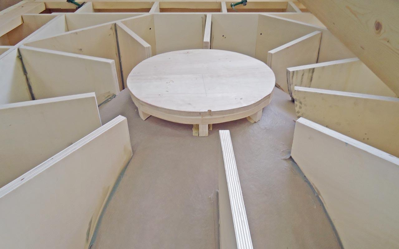 Curve - Modello in legno per fonderia